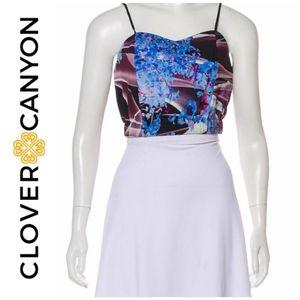 Clover Canyon crop top NWOT